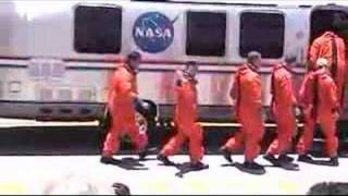 STS-124 Space Shuttle Discovery Launch - Crew Walkout