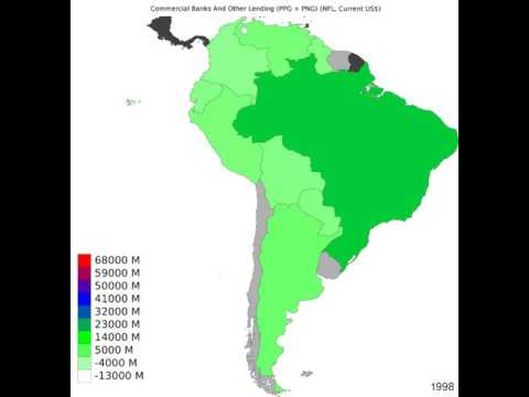 South America - Commercial Banks And Other Lending - Time Lapse
