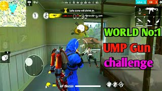 Free fire UMP gun challenge video || New world record UMP gun challenge || free fire tricks tamil