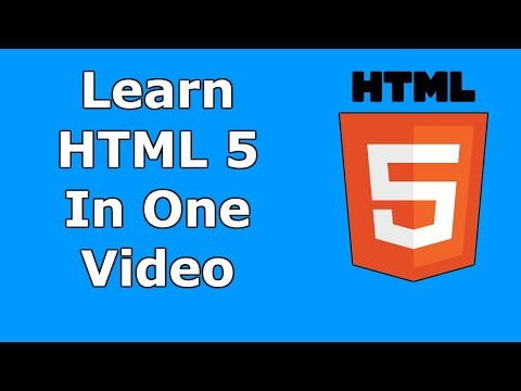HTML 5 Tutorial For Beginners | Learn In One Video