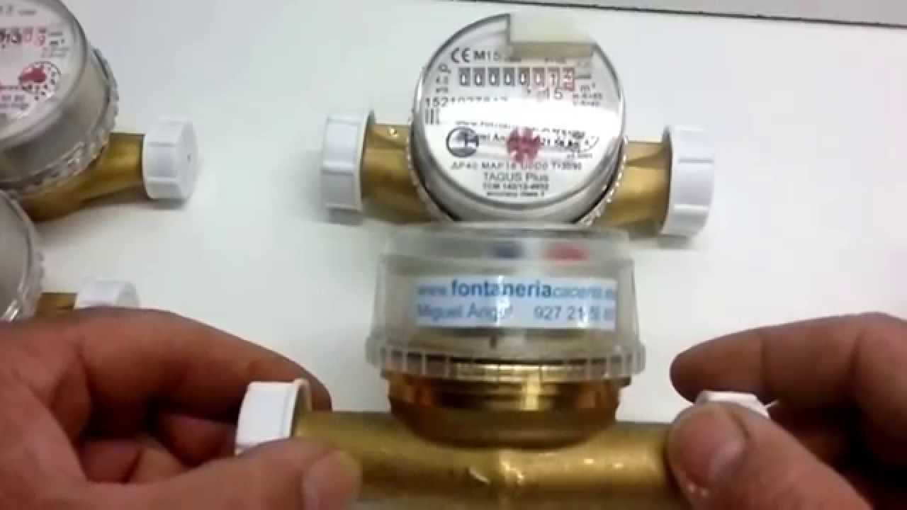 Contador de agua o medidor de agua youtube - Medidor de agua ...