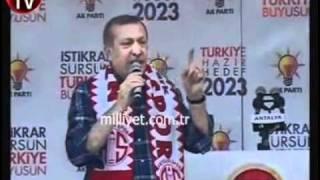 Recep Tayyip Erdoğan'ın konuşması sırasında prompter cihazı bozulursa