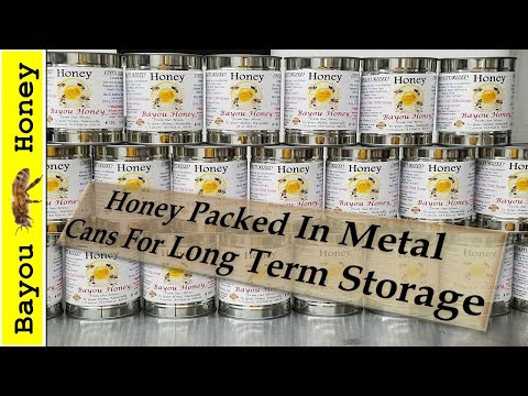 Food Storage: Canning Honey In #2 Cans For Long Term Food Storage