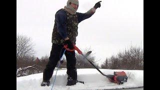 Тест снегоуборщик электрический смотреть