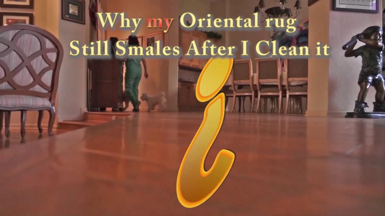 Why my Oriental rug still Smells after