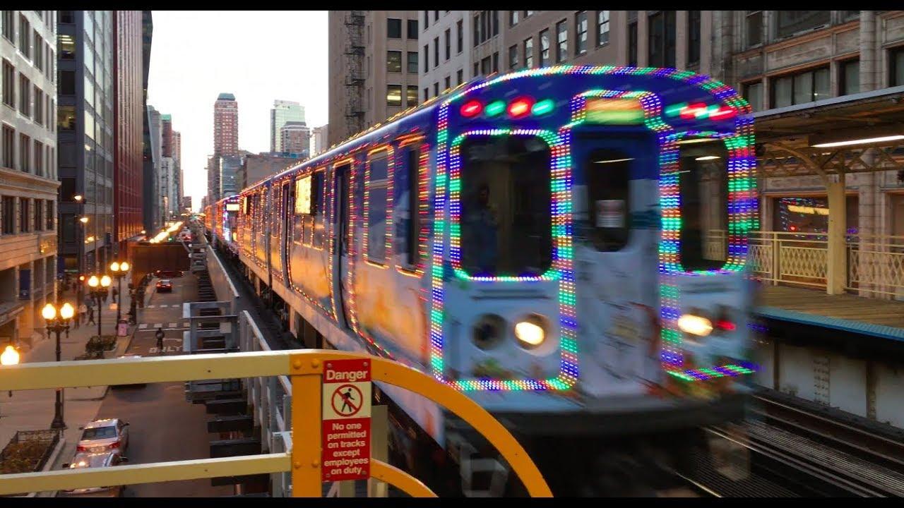 cta holiday train is back riding the l with santa - Cta Christmas Train 2014