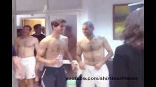 Shirtless Israelis Celebrating Davis Cup Tie Win
