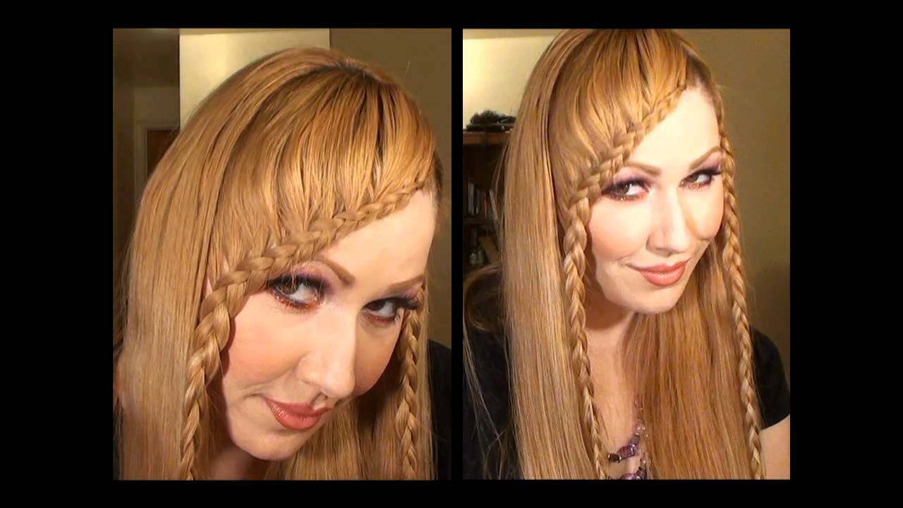Como Hacer una Trenza de Flequillo peinado de moda so cute YouTube