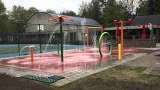 Oplevering Spray Park Floreal Camping het Veen BE