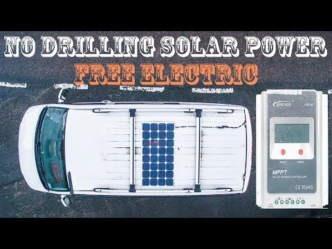FREE ENERGY Solar Panel VW Campervan Install | How to Tutorial | No Drilling DIY PV T5 Vanlife POWER
