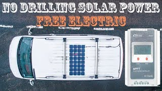 How to fit a 100watt PV solar panel to a T5 without drilling the roof.. A quick vlog showing my Semi Flexible solar panel install on our T5 VW Campervan using a ...