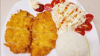 바삭바삭 닭가슴살까스 만들기 | 치킨까스 | 간단한 요…