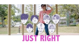 "GOT7 ""딱 좋아"" Just right dance tutorial"