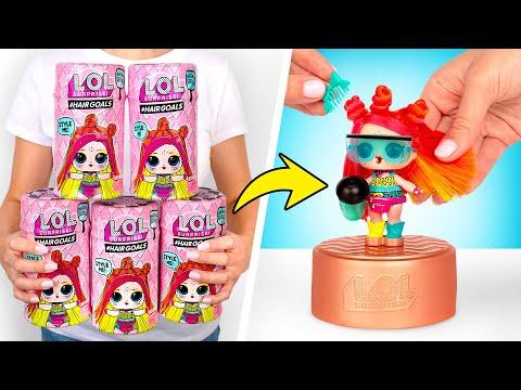 Muñecas de L.O.L. con cápsulas de laca para el pelo | ¡Abre y juega!