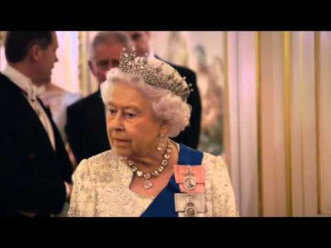 The Queen at the Diplomatic reception