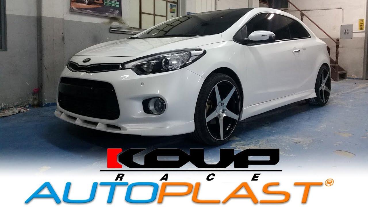 Kia Forte 5 >> AutoPlast BodyWorX • Kia Koup Race BODYKIT - YouTube