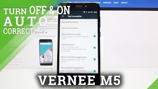 How to Turn On / Off Auto-Correction in Vernee M5 - Find Automatic Text Correction Feature