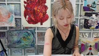 추상미술 드로잉 : 색…