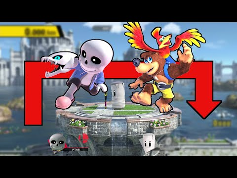 Who Can Make The Home Run Contest Jump WITHOUT UP B? Feat. Sans & Banjo - Super Smash Bros. Ultimate