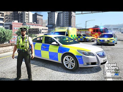 LSPDFR #487 BRITISH PATROL!! (GTA 5 REAL LIFE POLICE PC MOD)