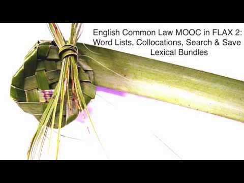 English Common Law MOOC in FLAX 2