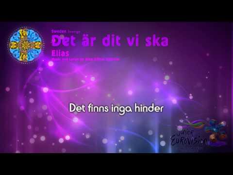 """Elias - """"Det är dit vi ska"""" Sweden - [Karaoke version]"""