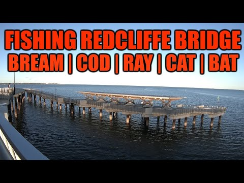 FISHING IN THE MIDDLE OF THE REDCLIFFE BRIDGE!  25 MINUTES FIGHT!