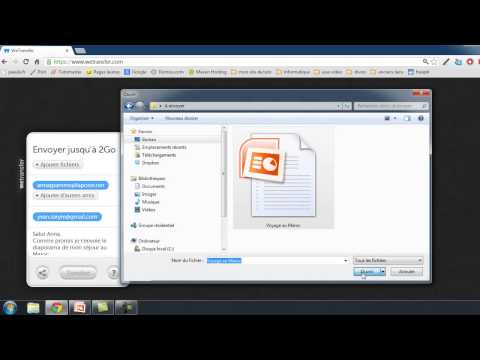 Envoyer un fichier volumineux avec Wetransfer