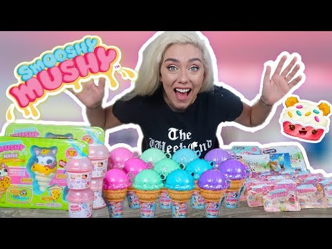 UBOXING NEW SMOOSHYS MUSHY'S AND MYSTERY SUPRISES! ULTRA RARE FIND!