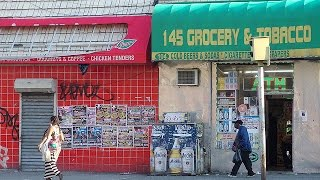 ニューヨークのバスからの風景 / 145th street in Harlem