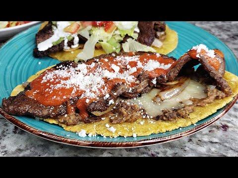 HUARACHES   How To Make Huaraches De Carne Asada   GREEN SALSA Recipe