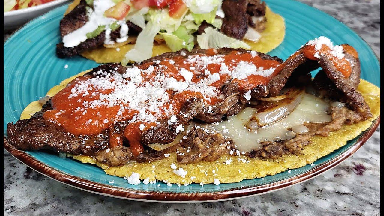 HUARACHES | How To Make Huaraches De Carne Asada | GREEN SALSA Recipe