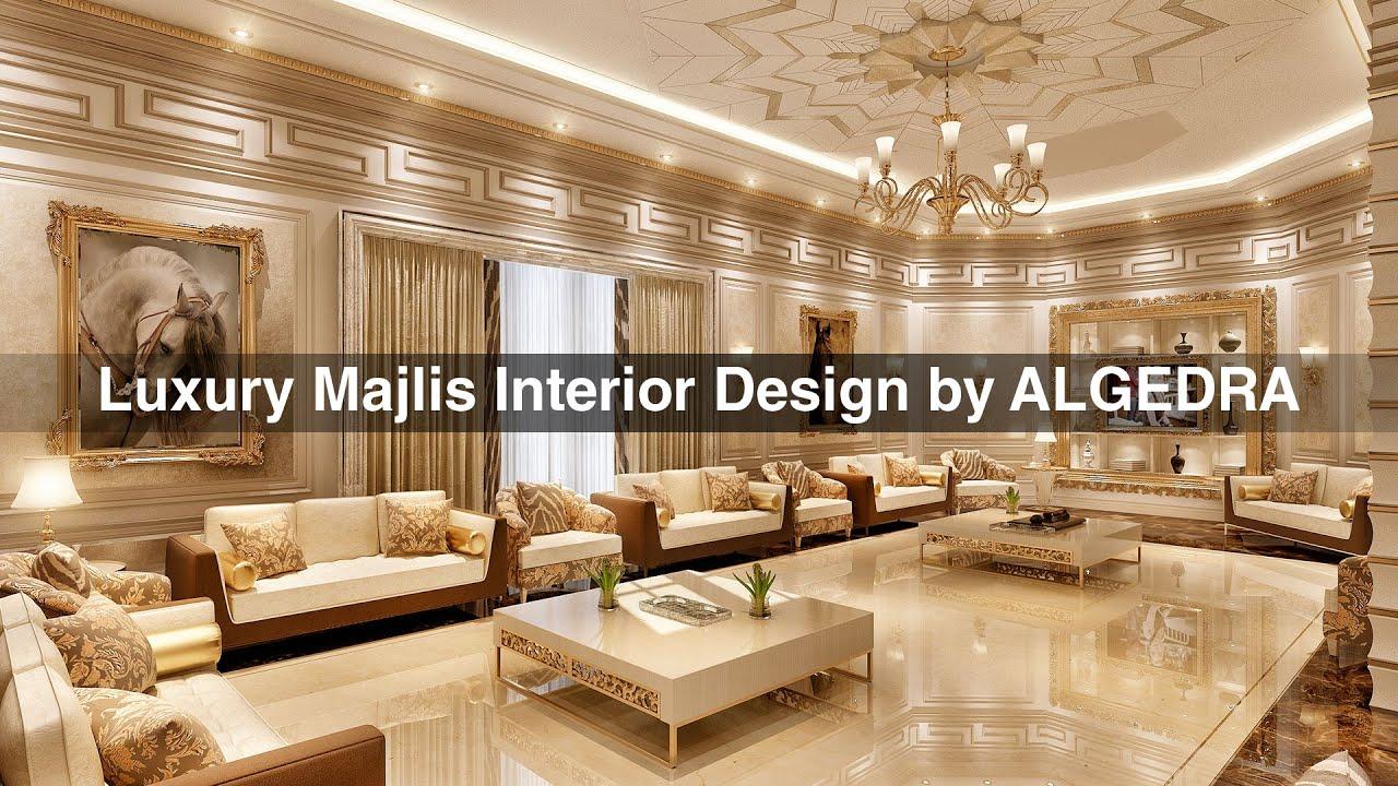 Luxury Majlis Interior Design By ALGEDRA Dubai