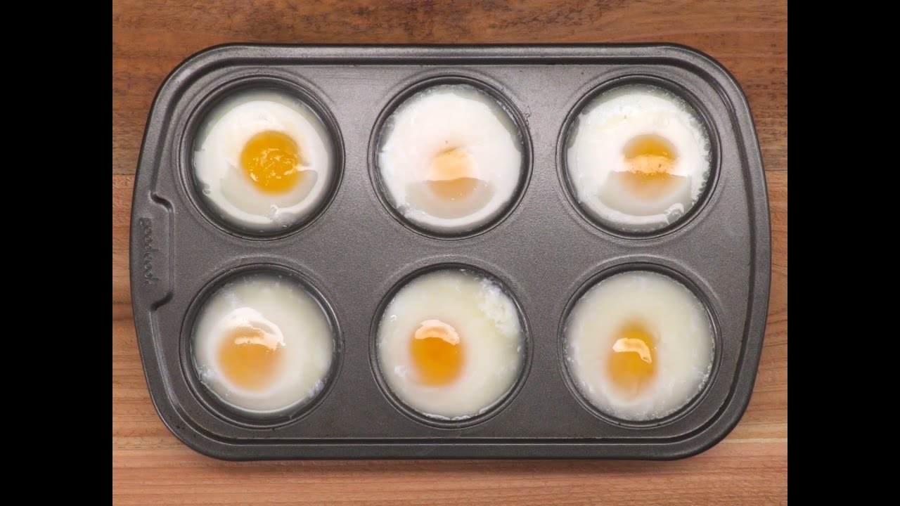 Muffin Pan Poached Eggs
