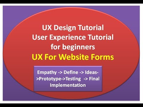 UX Design tutorial for beginners | UX Tutorial - placeholders in forms thumbnail