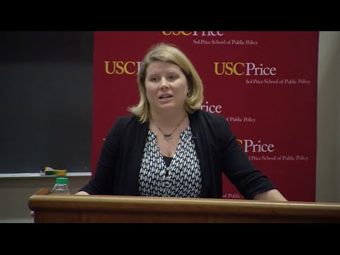 """Seleta Reynolds, General Manager of the LA Department of Transportation, led a recent discussion at USC Price on """"Great Streets for Los Angeles - LADOT Strategic Plan."""""""