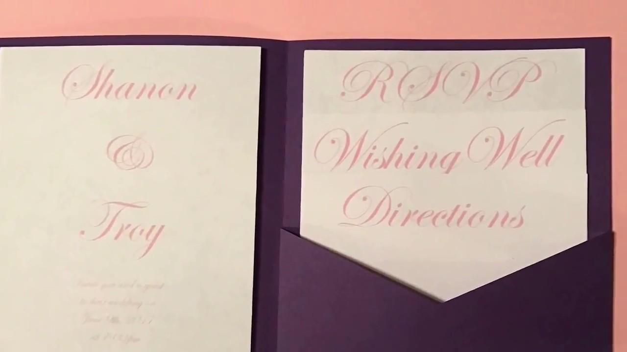 DIY Pocketfold Wedding Invitations Tutorial using Silhouette CAMEO ...