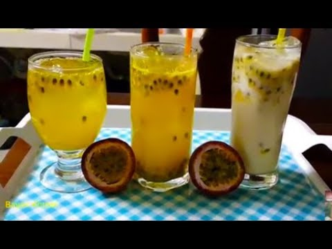 How To Make Passion Juice | Healthy Drinks With Passion Fruit | Khmer Cooking Style
