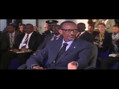 President Kagame, President Uhuru Kenyatta and Adesina Akinwumi on a CNBC televised panel