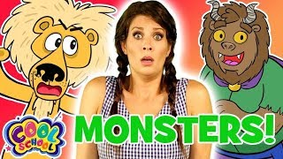 Ms. Booksy Meets Monsters! Story Time with Ms. Booksy | Cartoons for Kids