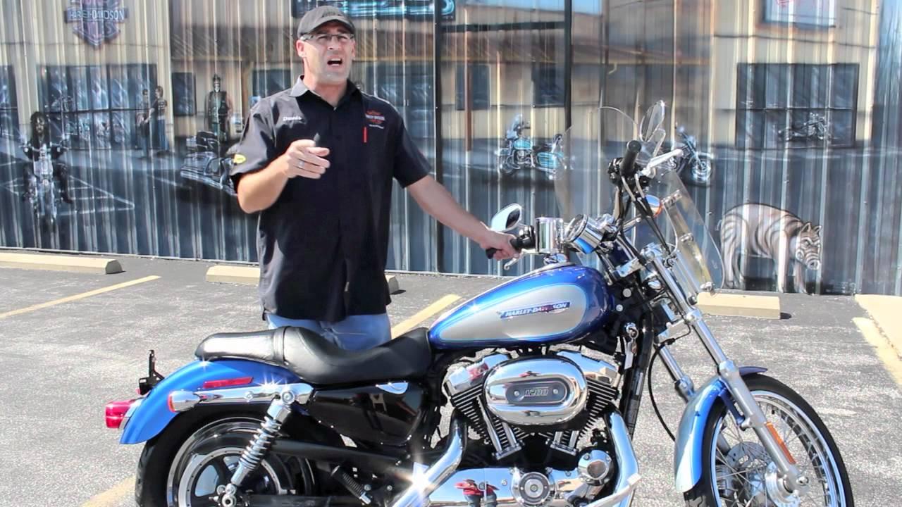 Pre-Owned 2009 Harley-Davidson Sportster 1200 Custom - YouTube