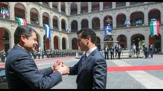 Visita Oficial: Presidente de Honduras, Juan Orlando Hernández Alvarado. Ceremonia de Bienvenida