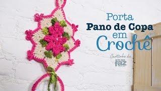 Porta Pano de Copa em Crochê por Diane Gonçalves