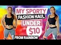 Sporty Leggings Try On Haul- Rainbow Clothing Store