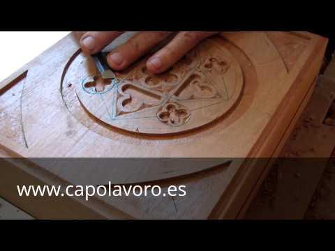 Tallado En Madera Imagen Geom 233 Trica En Caja De Caoba