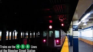 NYC Subway: IRT (4) (5) (6) Trains at the Bleecker Street Station