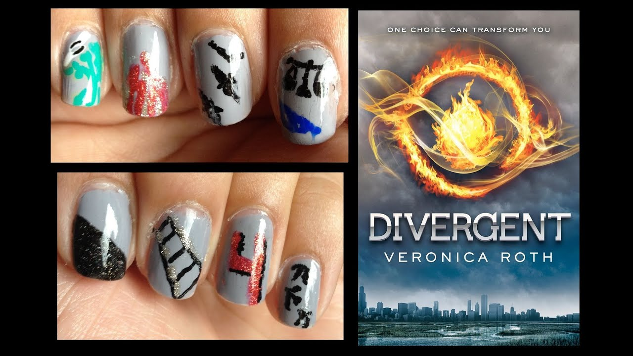 Divergent Inspired Nail Art Youtube