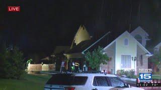 House Fire after lightning strike on Sherrelwood Ct.