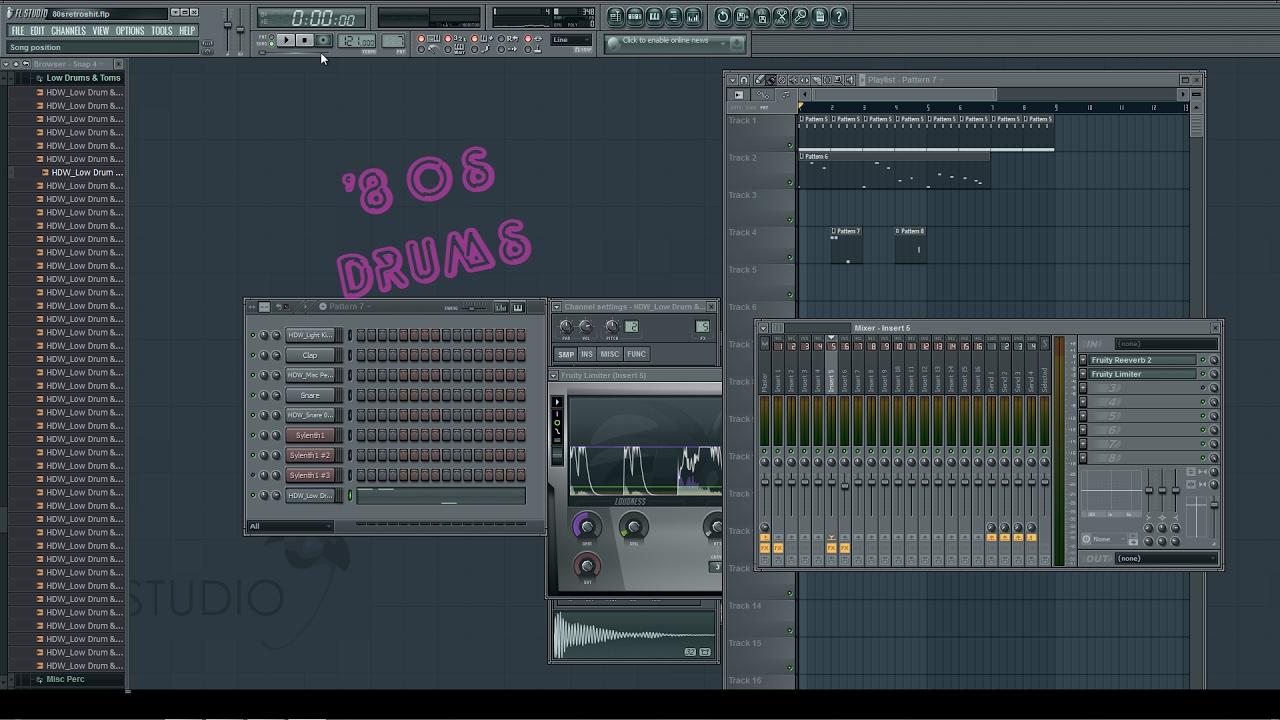Retro 80s Drums Gated Reverb Fl Studio Tutorial
