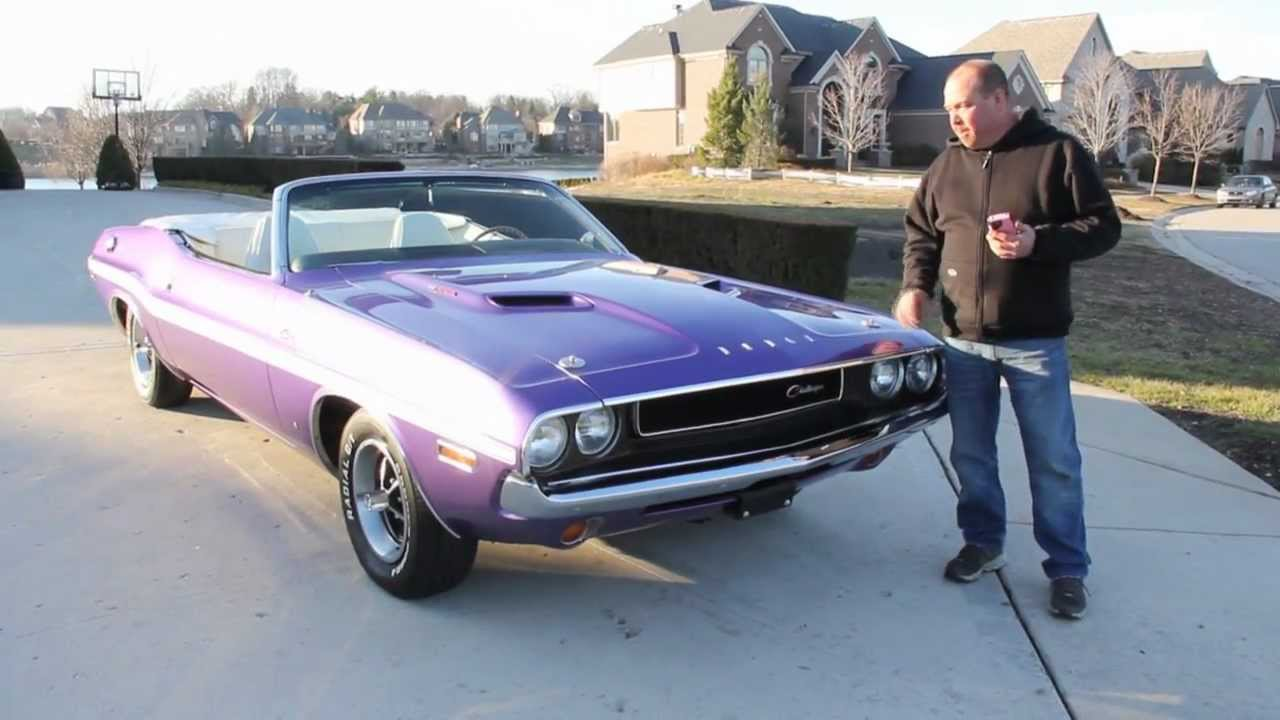 1970 Dodge Challenger Convertible Plum Crazy Classic Muscle Car ...